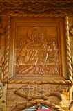 Orthodox icon carved in wood Stock Photography