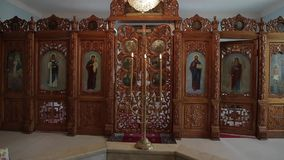 Orthodox icon in the church.  stock video