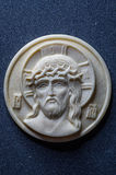 Orthodox icon of mammoth ivory handcrafted. Royalty Free Stock Image