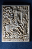 Orthodox icon of mammoth ivory handcrafted. Stock Photography