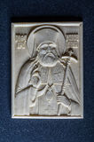 Orthodox icon of mammoth ivory handcrafted. Stock Images