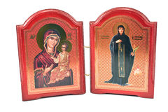 Orthodox icon of Mother Mary Stock Images