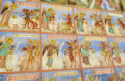 Orthodox icon painting in the church Royalty Free Stock Images