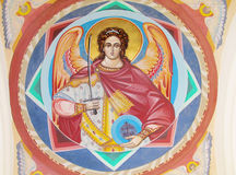 Orthodox icon painting in the church Royalty Free Stock Photography