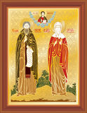 Orthodox icon vector church faith Royalty Free Stock Image