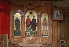 Orthodox iconostasis Stock Photos