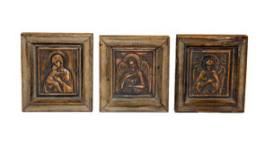 Orthodox icons of copper isolated Stock Image