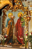 Orthodox icons and frescoes. Royalty Free Stock Image