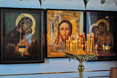 Orthodox icons and frescoes. Stock Photos