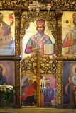 Orthodox icons. Old orthodox icons in a Greek Church Stock Photography