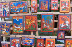 Orthodox icons on wood Stock Images