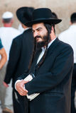 Orthodox jew. At the Western wall (Wailing wall) in Jerusalem, Israel Stock Photo