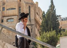 Orthodox Jewish man in Jerusalem stock images