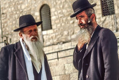 Orthodox jewish man prays at the Western Wall Royalty Free Stock Photos