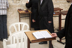 Praying at the Wailing Wall Stock Photography