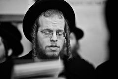 Orthodox jewish man praying  Stock Images