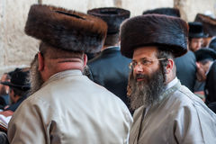 Orthodox jews in Jerusalem Royalty Free Stock Photos