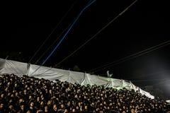 Orthodox jews pray in mt meron, israel Royalty Free Stock Image