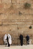 Orthodox Jews praying at the west wall Royalty Free Stock Images