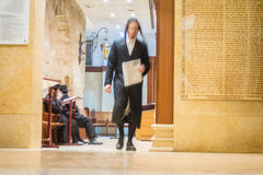 Orthodox Jews in Rachel's Tomb Synagogue Royalty Free Stock Photos