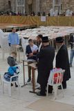 Orthodox Jews at Western Wall in Jerusalem Stock Image
