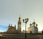 Orthodox Kremlin Vologda square black lantern Stock Images