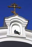 Orthodox kruis op een input Stock Foto's