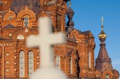Orthodox kruis van de Kerk stock foto's