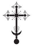 Orthodox kruisbeeld, één van de variaties, gewoonlijk is geïnstalleerd op de kerkkoepel Royalty-vrije Stock Foto's