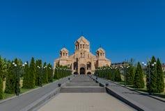 Orthodox landmarks in Yerevan, Armenia stock images