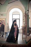 Orthodox liturgy with bishop Royalty Free Stock Photo
