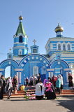 Orthodox Liturgy in the convent of St. John in the village of Korma Feed Dobrush district of Gomel region (Belarus). Royalty Free Stock Photo