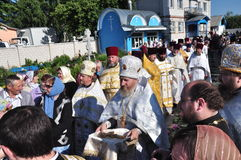 Orthodox Liturgy in the convent of St. John in the village of Korma Feed Dobrush district of Gomel region (Belarus). Royalty Free Stock Photos