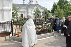 Orthodox Liturgy and procession at St. Nicholas monastery in the city of Gomel (Belarus) on may 2, 2012. Royalty Free Stock Photos