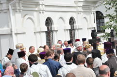 Orthodox Liturgy and procession at St. Nicholas monastery in the city of Gomel (Belarus) on may 2, 2012. Stock Photo