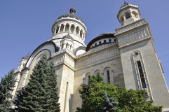 Orthodox Metropolitan Cathedral in Cluj-Napoca from Transylvania region in Romania. On september 24th 2016 royalty free stock photos
