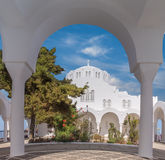 The Orthodox Metropolitan Cathedral in Fira, Santorini Royalty Free Stock Photography