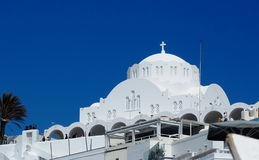 Orthodox Metropolitan Cathedral In Fira Santorini Greece Royalty Free Stock Image