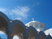 Orthodox Metropolitan Cathedral In Fira Santorini Greece Royalty Free Stock Images