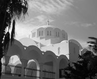 Orthodox Metropolitan Cathedral In Fira Santorini Greece Stock Images