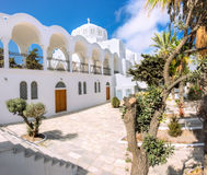 The Orthodox Metropolitan Cathedral in Fira, Santorini Stock Images