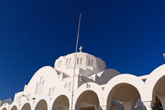 The Orthodox Metropolitan cathedral in Santorini Stock Image