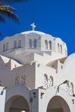 Orthodox Metropolitan Cathedral santorini greece Royalty Free Stock Images