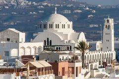 Orthodox Metropolitan Church of Santorini Stock Images