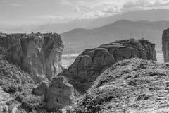 Orthodox monasteries of Meteora Greece royalty free stock photography