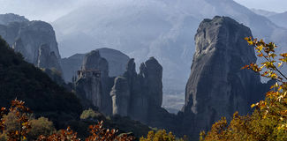 Orthodox monasteries Meteora, Kalambaka Greece. Royalty Free Stock Photography
