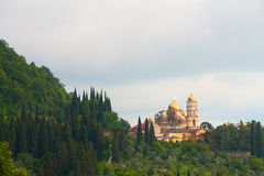 Orthodox monastery. Old orthodox monastery at the foot of a hill Stock Photography