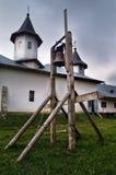 Orthodox monastery. In Romania on stormy day Stock Photos