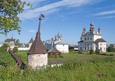 Orthodox Monastery of Archangel Michael in Yuriev-Polsky. View of Orthodox monastery of Archangel Michael in Yuriev-Polsky, Russia royalty free stock photos