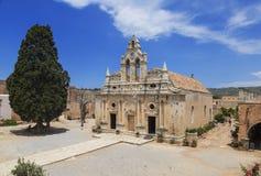 Orthodox monastery of Arkadi in Crete, Greece Royalty Free Stock Photo